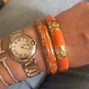 Bloomingdale's Jewelry - Set of orange enamel bracelets